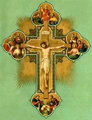 Kreuz  Wandbild  um 1880