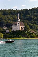 Maria Woerth  Oesterreich  Pfarr- und ehemalige Stiftskirche Hl. Primus und Felician