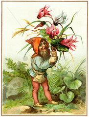 Zwerg im Garten  um 1880