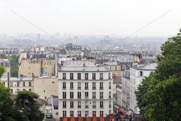 Paris  Frankreich  Paris im Nebel