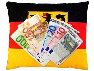 Symbol Bundeshaushalt  Beamtenbesoldung