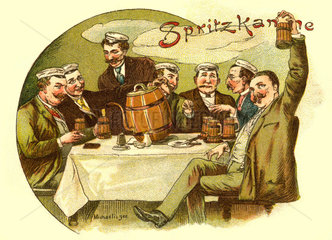 Studenten beim Bier  1900