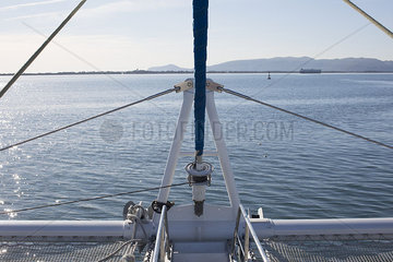 Sail boat rigging