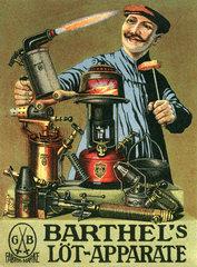 Werbung fuer Loetapparate  1910