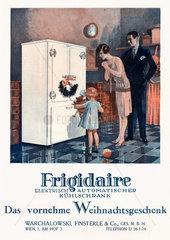 Werbung fuer Kuehlschtrank Frigidaire  1928