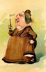 alte Frau  Karikatur  um 1907
