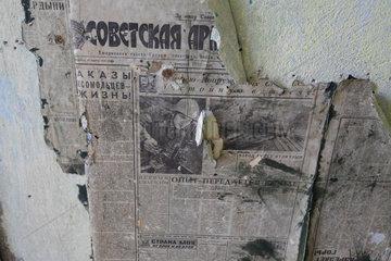 Gross Doelln  Deutschland  sowjetische Zeitungen kommen unter Tapeten zum Vorschein