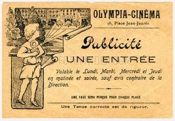 alte Kinokarte  um 1912