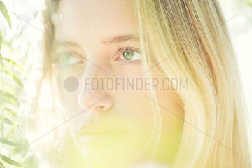 Woman daydreaming  portrait