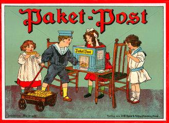 Paketpost  Kinderspiel  um 1912