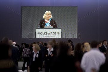 Ursula Piech  Hauptversammlung Volkswagen