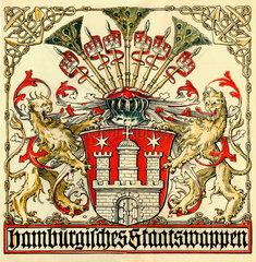 Hamburger Staatswappen  1918