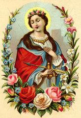 Heiligenbild  um 1900