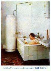 Werbung fuer AEG Badeofen  um 1929