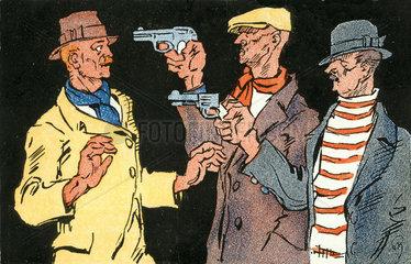 bewaffneter Ueberfall  um 1920
