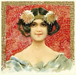 Frauenkopf  Jugendstil  1904