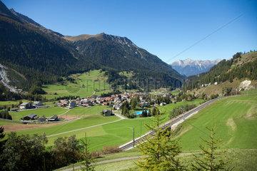 Berguen  Schweiz  Blick auf Berguen