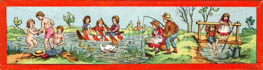 Fruehling  Sommer  um 1875