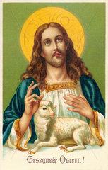 Christus mit Osterlamm  um 1916