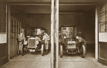 Kfz-Werkstatt  um 1914