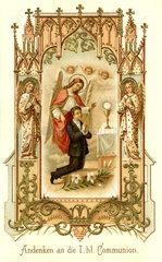 Andenken an die Erste Heilige Kommunion  1896