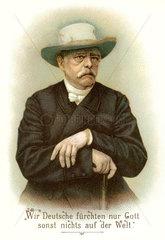 Portraet Otto Fuerst von Bismarck  um 1897