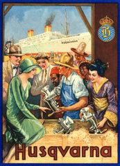 Export von Husqvarna-Produkten  Werbung 1925