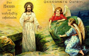 der auferstandene Christus  Osterkarte 1911
