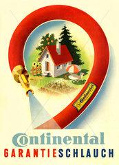 alte Werbung fuer Gartenschlauch  um 1954