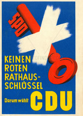 CDU-Wahlplakat  um 1958