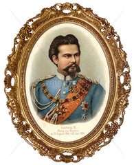 Koenig Ludwig II. von Bayern  Goldrahmen