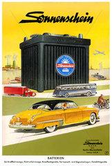 Werbung fuer Sonnenschein-Batterien  1956