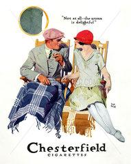 Werbung fuer Chesterfield Zigaretten 1926