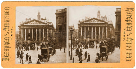 Boerse in London  um 1890