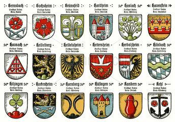 Stadtwappen aus Baden  20er Jahre