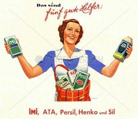 Werbung fuer Produkte von Henkel  um 1939