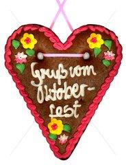 Lebkuchenherz Gruss vom Oktoberfest