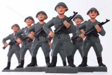 DDR Wachsoldaten  Spielzeug  um 1978