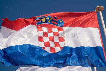 Frankreich  wehende kroatische Nationalflagge