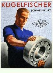 Werbung der Firma FAG Kugelfischer  um 1930
