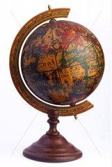 alter Globus  Karte aus dem 16. Jahrhundert