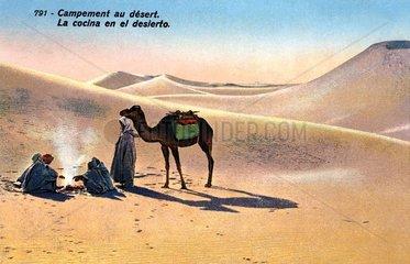 Beduinen in der Sahara  um 1920