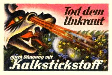 Duengen mit Kalkstickstoff  Werbung 1929