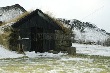 Turf house  Skogar  Iceland