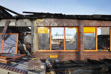 Berlin  Deutschland  ausgebrannter Netto Discounter in der Koepenicker Strasse