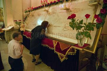 Lemberg  Ukraine  eine Kopie des Turiner Grabtuches in der St.-Georgs-Kathedrale