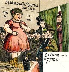 Jahrmarkt  uebergewichtige Frau  1902
