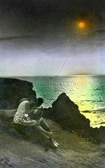 Liebespaar  naechtliches Rendezvous am Meer  1926