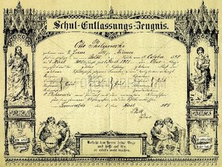 Schul-Entlassungs-Zeugnis 1905