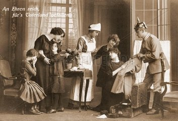 Todesnachricht an Familie  Erster Weltkrieg 1914
